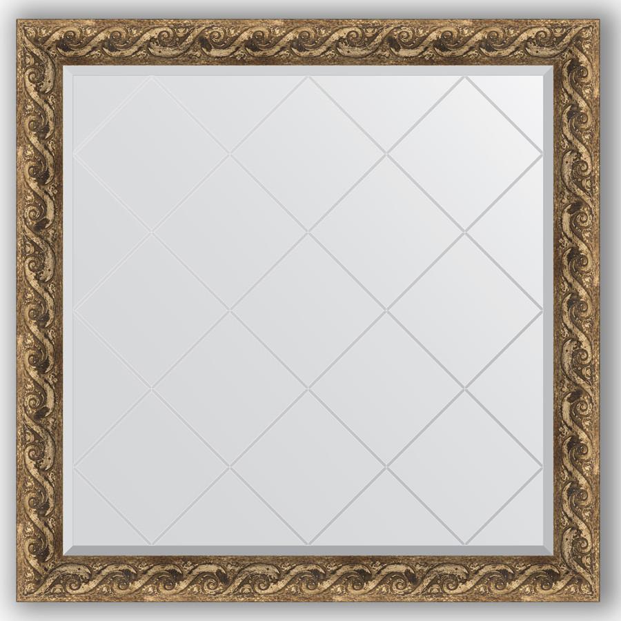 Зеркало 106х106 см фреска Evoform Exclusive-G BY 4442 зеркало evoform exclusive g 185х131 фреска