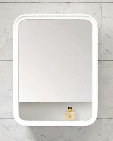 Зеркальный шкаф 55х73 см белый глянец BelBagno Prado PRADO-SPC-550-1A-BL.