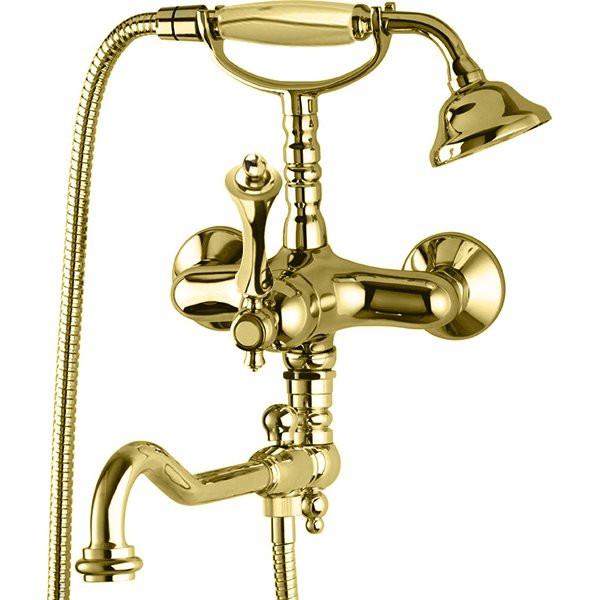 Смеситель для ванны золото 24 карат, ручка золото 24 карат Cezares Margot MARGOT-VDFM2-03/24-M