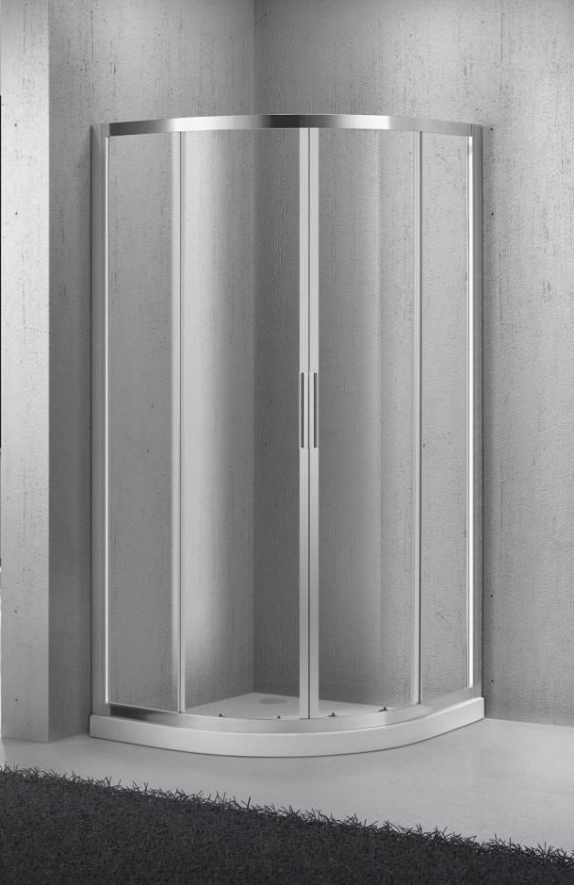 Душевой уголок BelBagno Sela 80х80 см текстурное стекло SELA-R-2-80-Ch-Cr душевой уголок belbagno 80х80см uno r 2 80 p cr