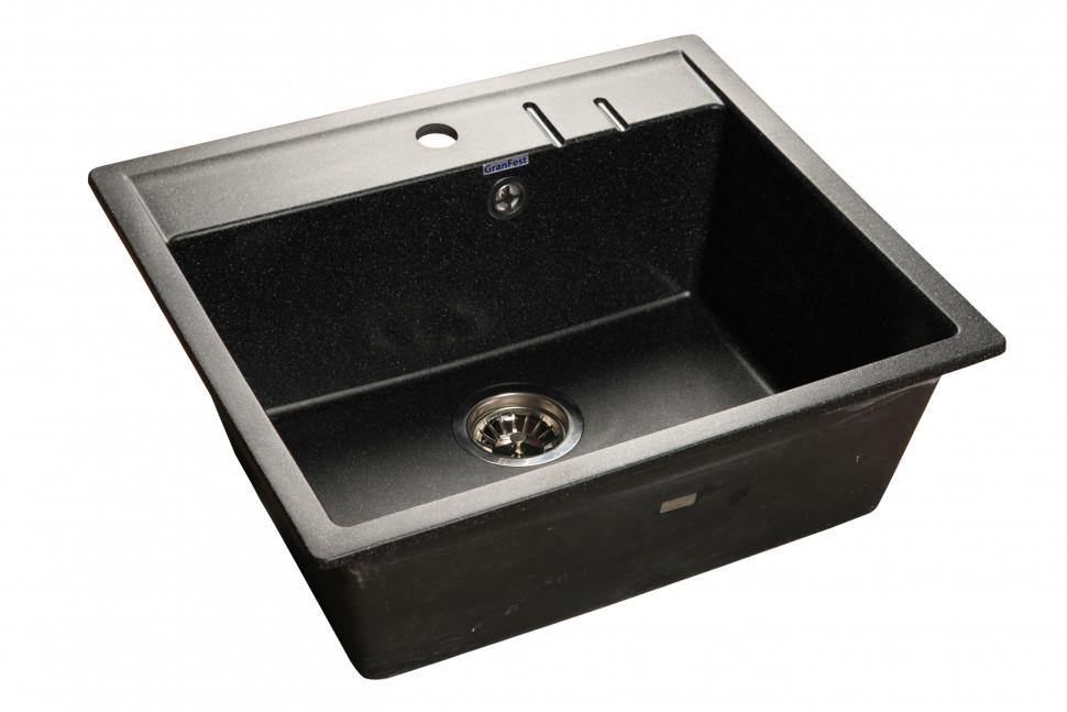 Кухонная мойка черный GranFest Quadro GF-Q560 кухонная мойка серый granfest quadro gf q560