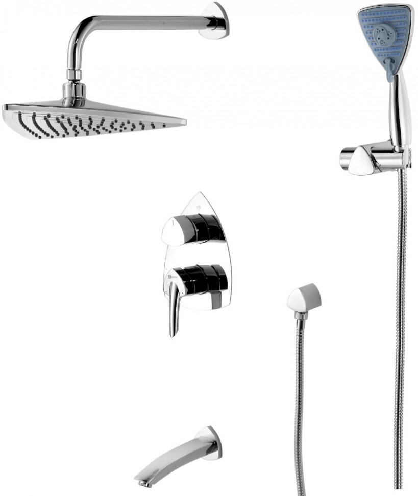 Душевой комплект Lemark Mars LM3522C душевая система lemark mars для ванны и душа встраиваемый lm3522c