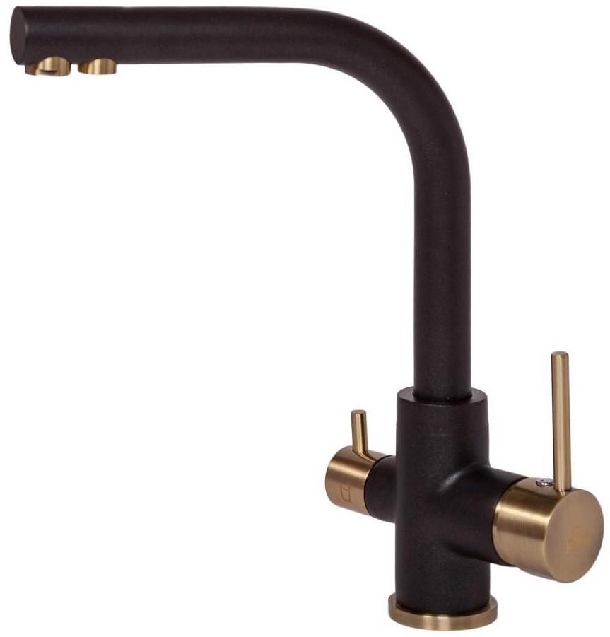 Смеситель для кухни с подключением к фильтру Paulmark Essen Es213011-418-BR смеситель для кухни с подключением к фильтру paulmark essen es213011 418