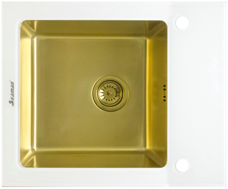 Кухонная мойка Seaman Eco Glass SMG-610W-Gold.B