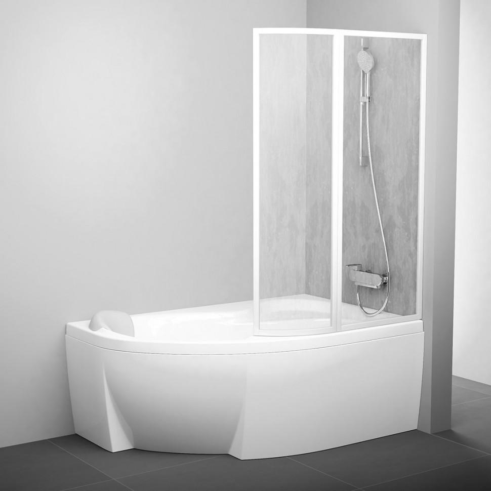 Фото - Шторка для ванны 107 см Ravak VSK2 Rosa 170 R белый rain 76PB010041 шторка для ванны 92 см ravak vsk2 rosa 150 l белый rain 76l8010041