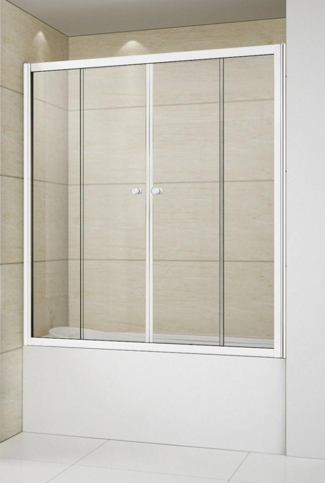 Шторка для ванны 150 см Cezares RELAX-VF-2-150/145-P-Bi текстурное стекло