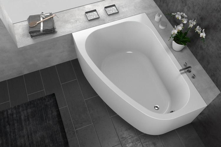 Акриловая ванна 170х120 см D Kolpa San Chad Basis акриловая ванна с гидромассажем kolpa san chad s magic l 170x120 см левая на каркасе слив перелив