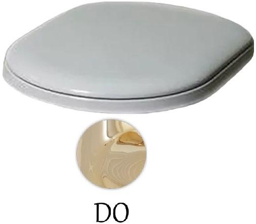 Сиденье для унитаза с микролифтом белый/золото Azzurra Charme CHA1800/Fbi/oro