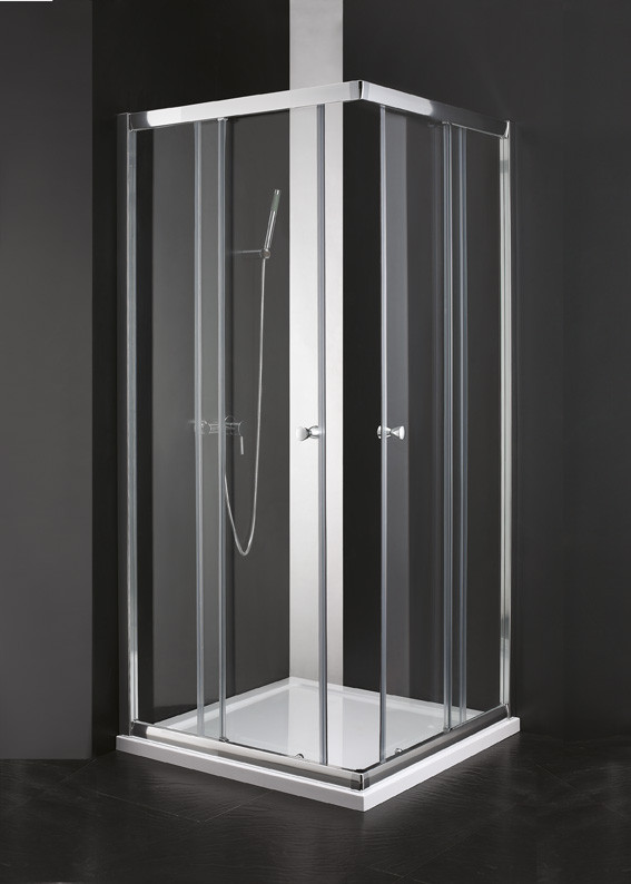 Душевой уголок Cezares Anima 90x90 см текстурное стекло ANIMA-W-A-2-90-P-Cr