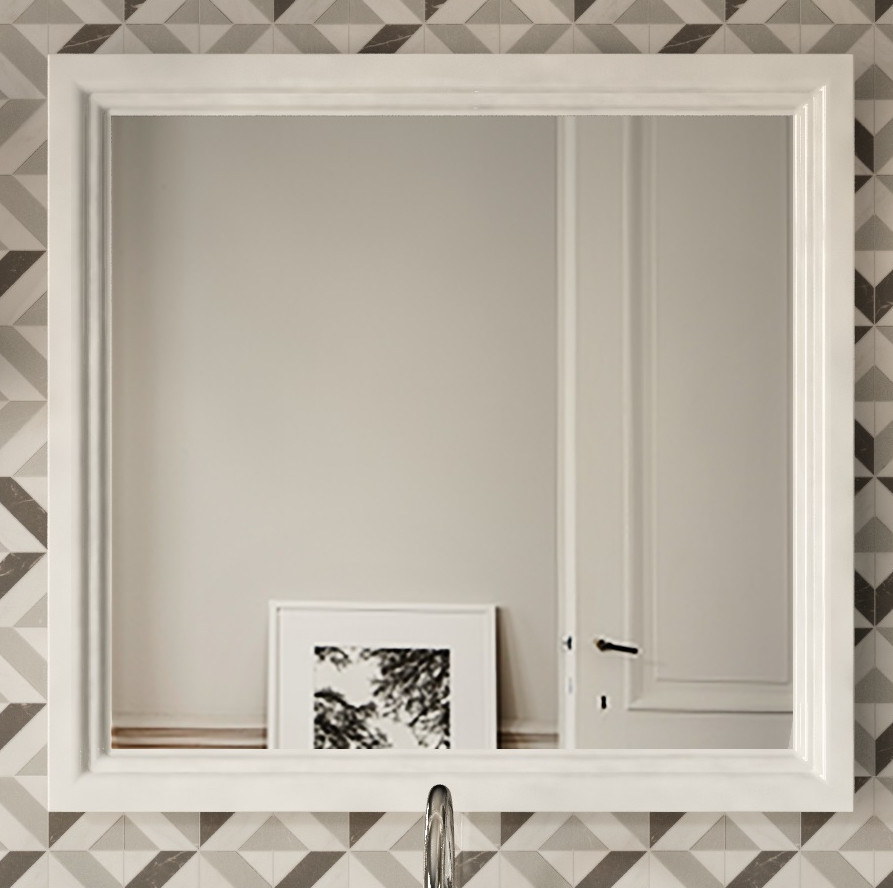 Зеркало 80х75 см белый глянец Kerama Marazzi Pompei PO.mi.80WHT вставка kerama marazzi сальветти hgd a28 tu0031l 20x20