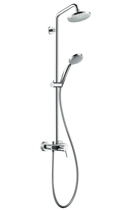 Душевая система Hansgrohe Croma 100 Showerpipe 27154000 верхний душ hansgrohe croma 100 vario 27441000