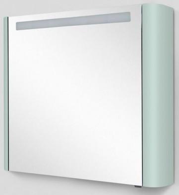 Фото - Зеркальный шкаф 80х70 см мятный глянец L Am.Pm Sensation M30MCL0801GG зеркальный шкаф 80х70 см белый глянец l am pm sensation m30mcl0801wg