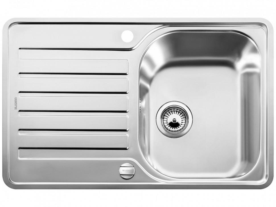 Кухонная мойка Blanco Lantos 45S-IF Compact Полированная сталь 519059 фото