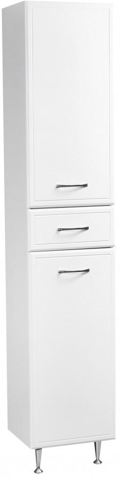 Пенал напольный с бельевой корзиной белый глянец/белый матовый Stella Polar Концепт SP-00000146
