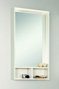 Зеркальный Шкаф Йорк 50 Белый/Выбеленное дерево Aquaton 1A170002YOAY0 цена и фото