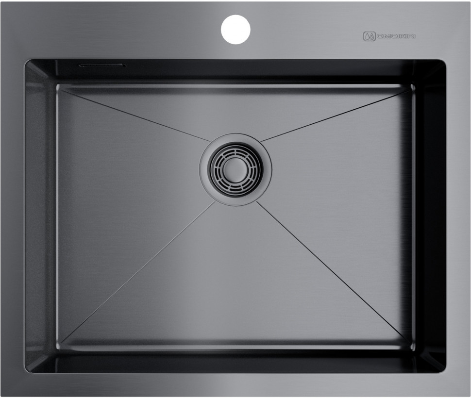 Кухонная мойка вороненая сталь Omoikiri Akisame 59-GM кухонная мойка omoikiri akisame 51 gm 4973440