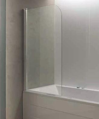 Фото - Шторка для ванны 75 см Kolpa San Terra TP 75 прозрачное шторка для ванны kolpa san terra ts 80 профиль хром стекло прозрачное