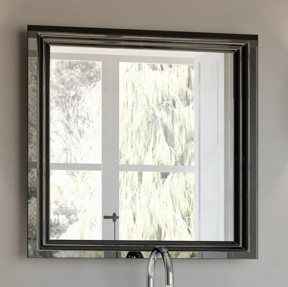 купить Зеркало 80х75 см черный глянец Kerama Marazzi Pompei PO.mi.80BLK по цене 14870 рублей