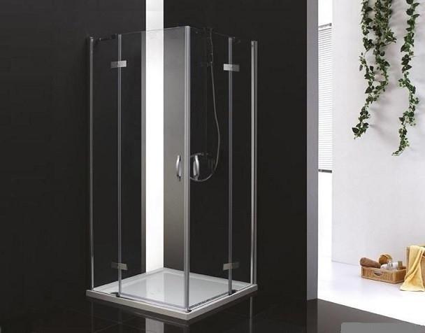 Душевой уголок Cezares Bergamo 90x90 см текстурное стекло BERGAMO-W-A-2-90-P-Cr