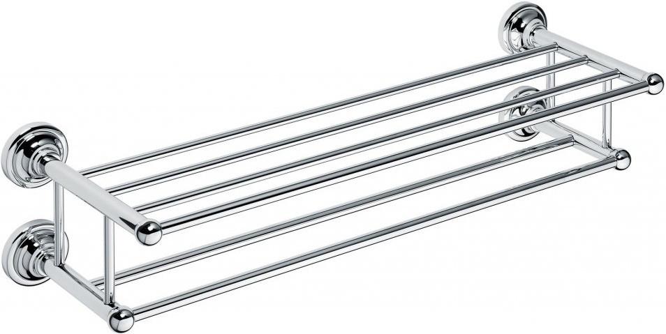 Полка для полотенец двойная 65,5 см Bemeta Retro 144302252 полка bemeta двойная угловая 280x280x380 мм 104202142