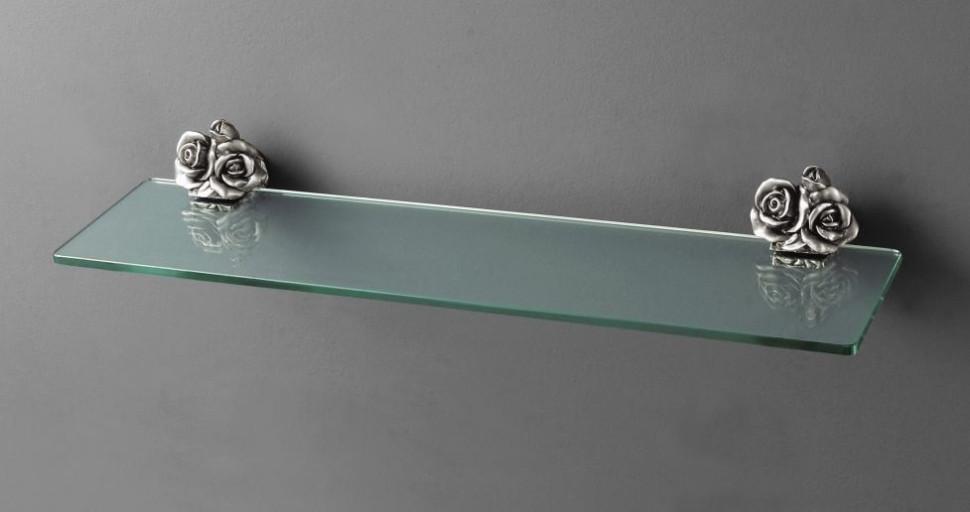 Полка стеклянная серебро Art&Max Rose AM-0913-T стоимость