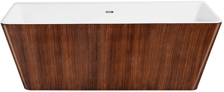 Акриловая ванна 168х80 см Lagard Vela Brown Wood lgd-vla-bw