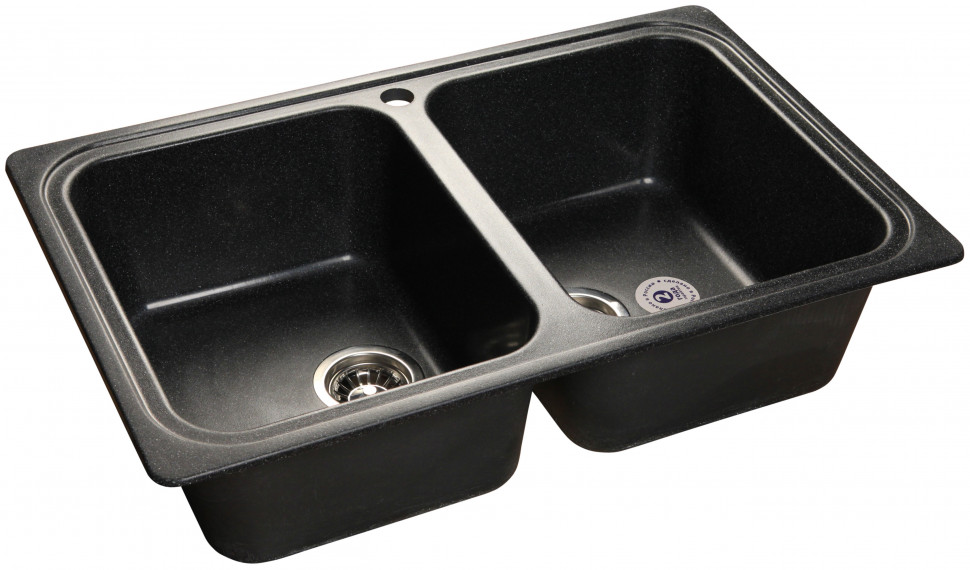 Кухонная мойка черный GranFest Standart GF-S780K мойка кухонная granfest гранит 780x510 gf s780k бежевая