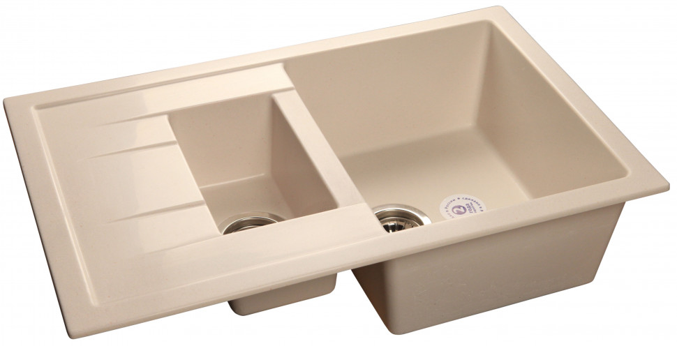 Кухонная мойка белый GranFest Quadro GF-Q775KL цена