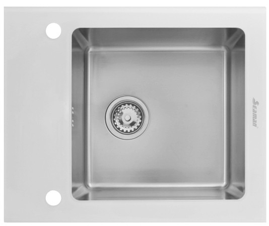 Кухонная мойка Seaman Eco Glass SMG-610W.B фото