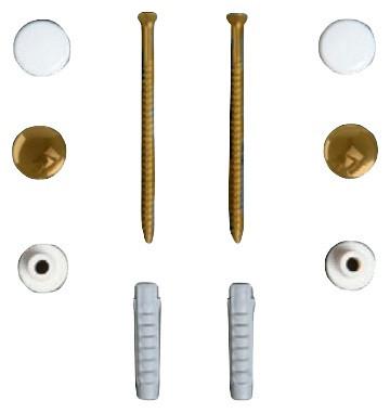 Комплект вертикальных крепежей  для унитаза/биде с заглушками цвета бронза Simas F90br