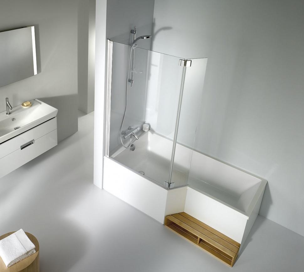 Шторка для ванны 111.5 см прозрачный Jacob Delafon BAIN-DOUCHE NEO E4930-GA акриловая ванна jacob delafon bain douche neo 160x90 e6d000r 00 r без гидромассажа