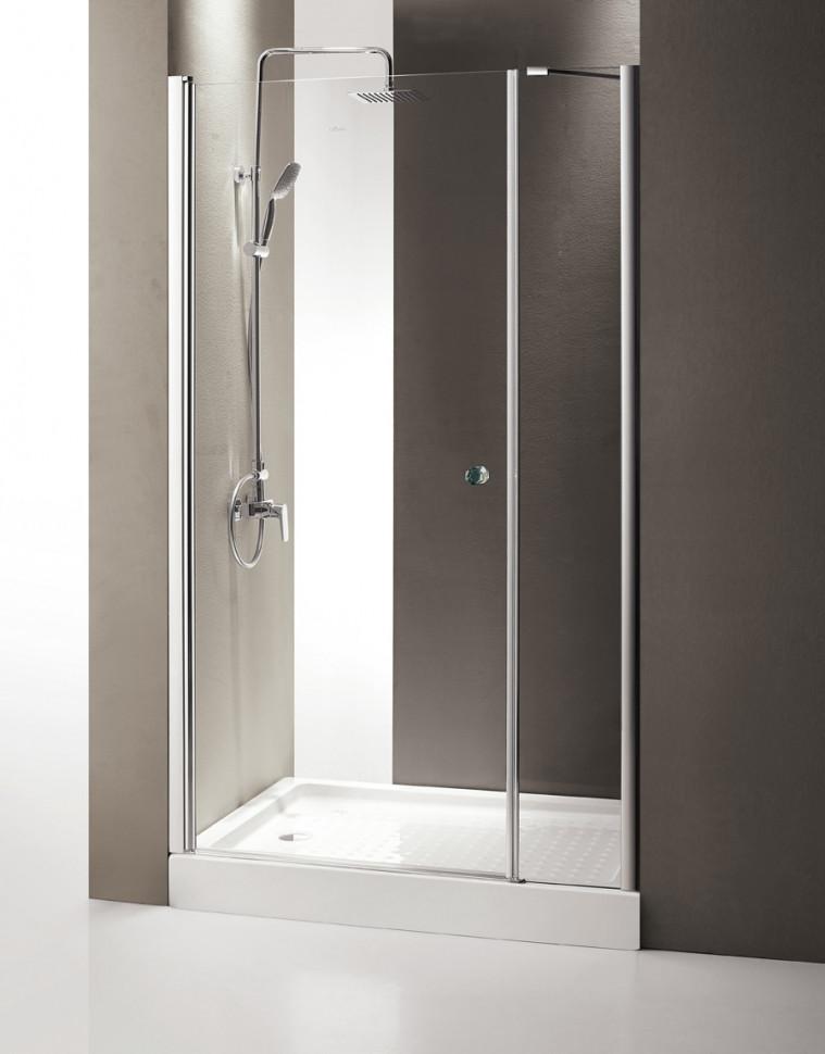 Душевая дверь распашная Cezares Triumph 130 см текстурное стекло TRIUMPH-D-B-11-40+90-P-Cr-L
