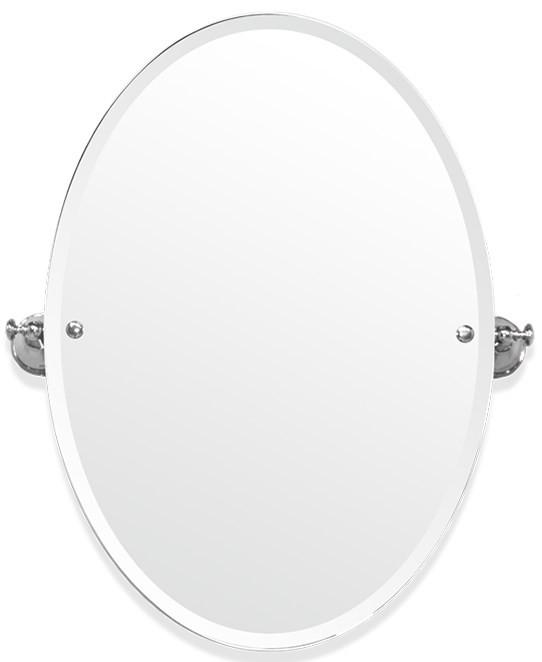 Зеркало 56х66 см белый/хром Tiffany World Harmony TWHA021bi/cr