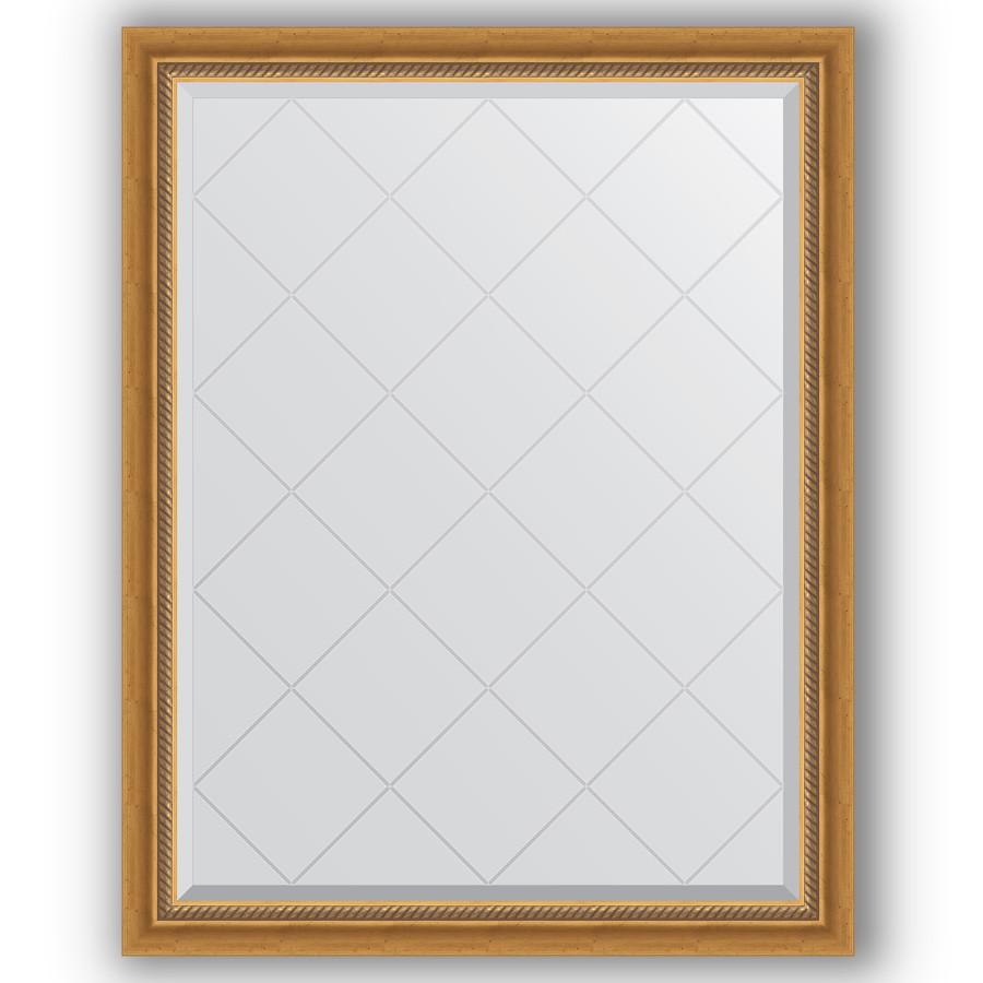 Зеркало 93х118 см состаренное золото с плетением Evoform Exclusive-G BY 4346