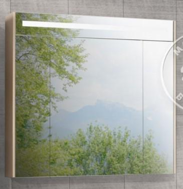Зеркальный шкаф Блент 100 кремовый Акватон 1A166502BLA70 тумба акватон блент 80