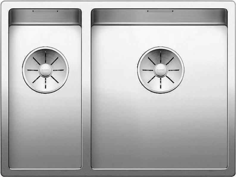 Кухонная мойка Blanco Claron 340/180-IF InFino зеркальная полированная сталь 521608