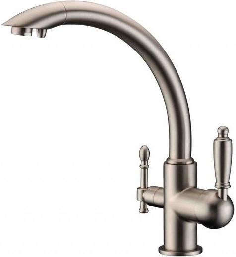 Смеситель для кухни с подключением к фильтру Zorg Sanitary ZR 314 YF-33 NIСKEL стоимость