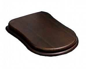 Сидение деревянное орех с механизмом Soft Close петли золото Cezares Laredo CZR-165W-S-G сиденье для унитаза cezares laredo деревянное орех микролифт фурнитура бронза czr 165w s br