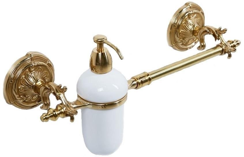 Полотенцедержатель с дозатором жидкого мыла античное золото Art&Max Barocco AM-2057D-Do-Ant фото