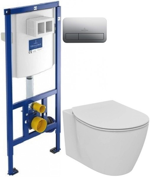 Комплект подвесной унитаз Ideal Standard Connect E771801 + E772401 + система инсталляции Villeroy & Boch 92246100 + 92249061 фото