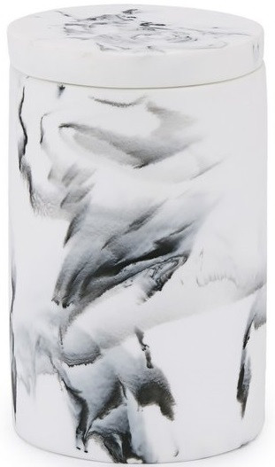 Косметическая ёмкость Kassatex Arabesco White/Black AAB-CJ-WB цена