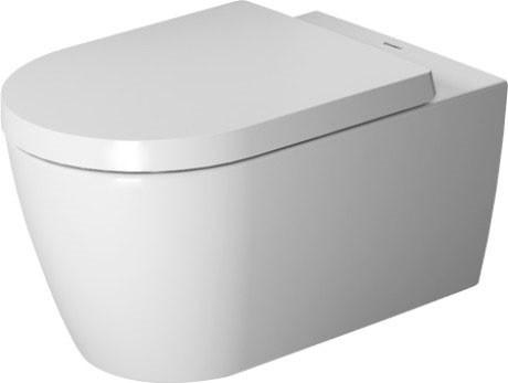 цена на Подвесной безободковый унитаз с сиденьем микролифт Duravit ME by Starck 45290900A1
