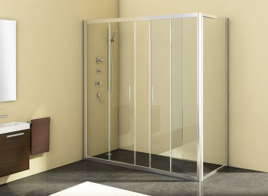 Душевой уголок 170х90 см Kolpa San Q line TV/4D+Q line TS прозрачное цена