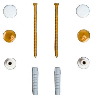Комплект вертикальных крепежей  для унитаза/биде с заглушками цвета золото Simas F90oro