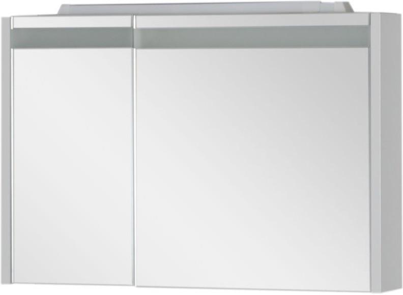 Зеркальный шкаф 89х60 см с подсветкой белый Aquanet Лайн 00164934 зеркальный шкаф 55х88 1 см белый aquanet стайл 00181511