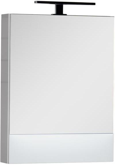 Зеркальный шкаф 58х67 см белый Aquanet Нота 00165370
