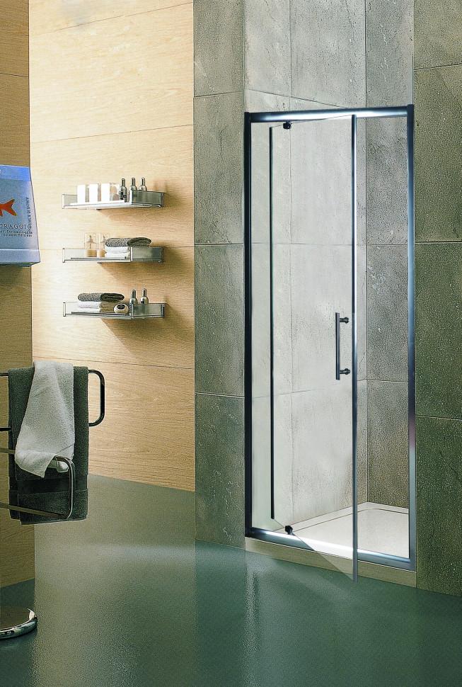 Душевая дверь распашная 90 см прозрачное стекло Esbano ES-90DV шторка для ванны 150 см esbano es 1415 прозрачное