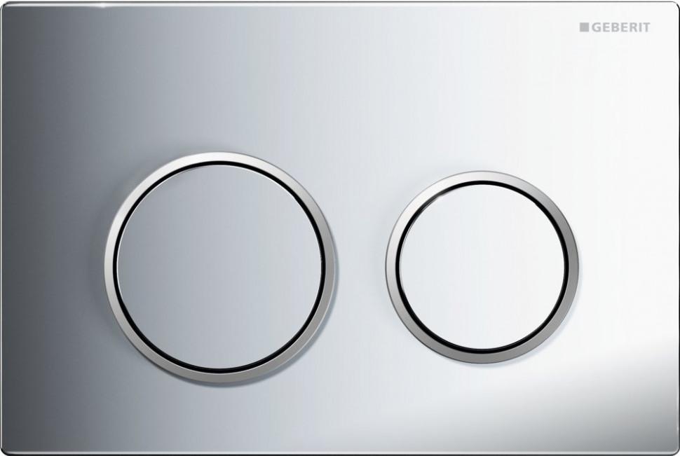 цены Смывная клавиша Geberit Omega20 глянцевый хром/матовый хром/глянццевый хром для двойного смыва 115.085.KH.1