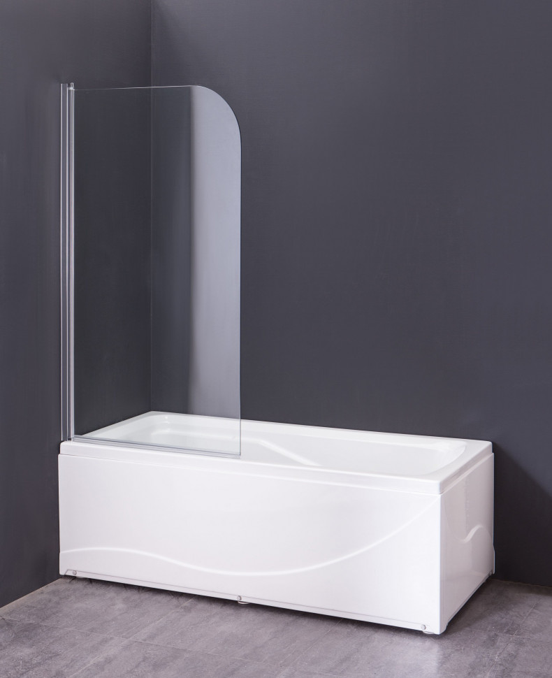 Шторка для ванны 80 см Agger A02-080TCR прозрачное недорого