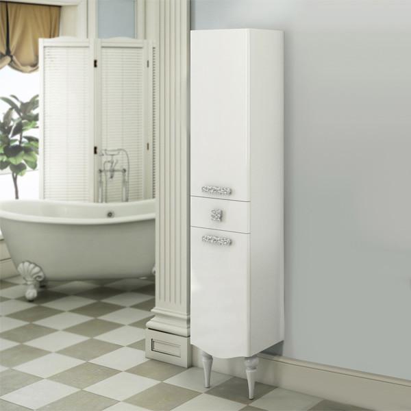 Колонна напольная белый глянец Comforty Монако 00003129168 зеркало comforty монако 120 белое